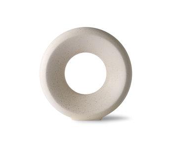 HK-Living Vase cercle en céramique M - moucheté