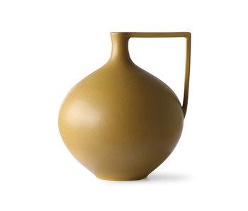 HK-Living Pot en céramique L - moutarde