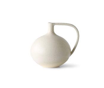 HK-Living Keramik M - vit fläckig