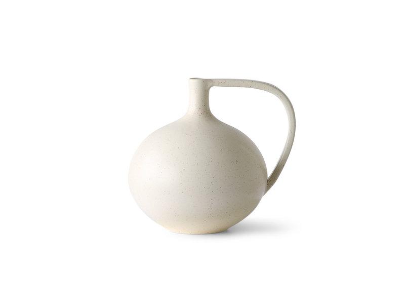 HK-Living Ceramics M - blanc moucheté