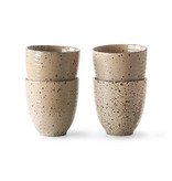 HK-Living Gradient Ceramic mugs taupe - set of 4 pieces