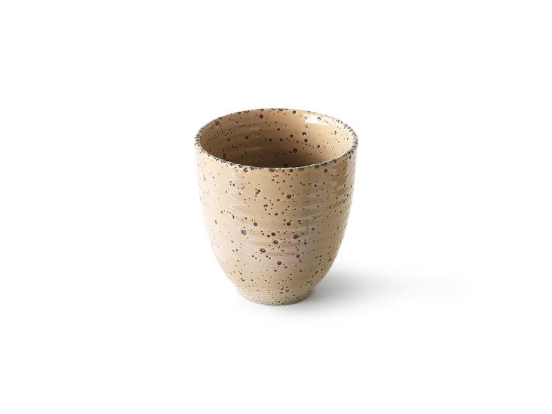 HK-Living Tasses en céramique dégradé taupe - lot de 4 pièces