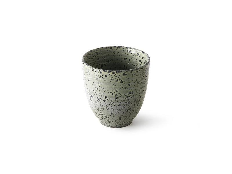 HK-Living Gradient Keramiske krus grøn - sæt med 4 stykker