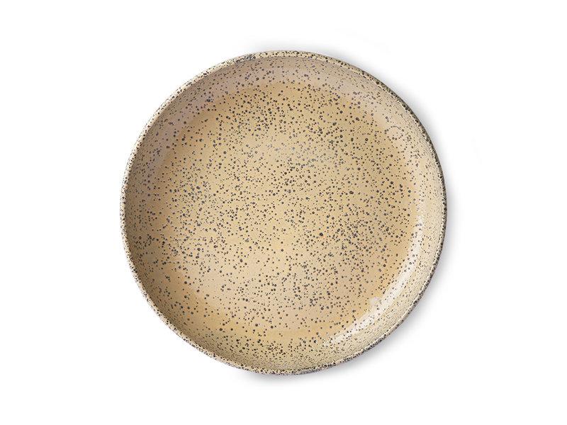 HK-Living Gradient Ceramic deep plates peach - set of 2 pieces