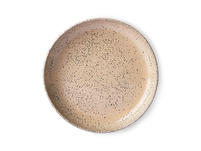 HK-Living Gradient Ceramic Deep Plates Taupe - 2er-Set