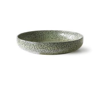 HK-Living Assiettes creuses en céramique dégradé vert - lot de 2 pièces