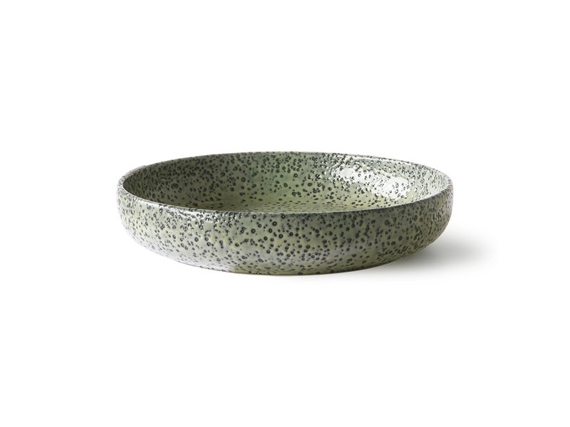 HK-Living Gradient Ceramic deep plates green - set of 2 pieces