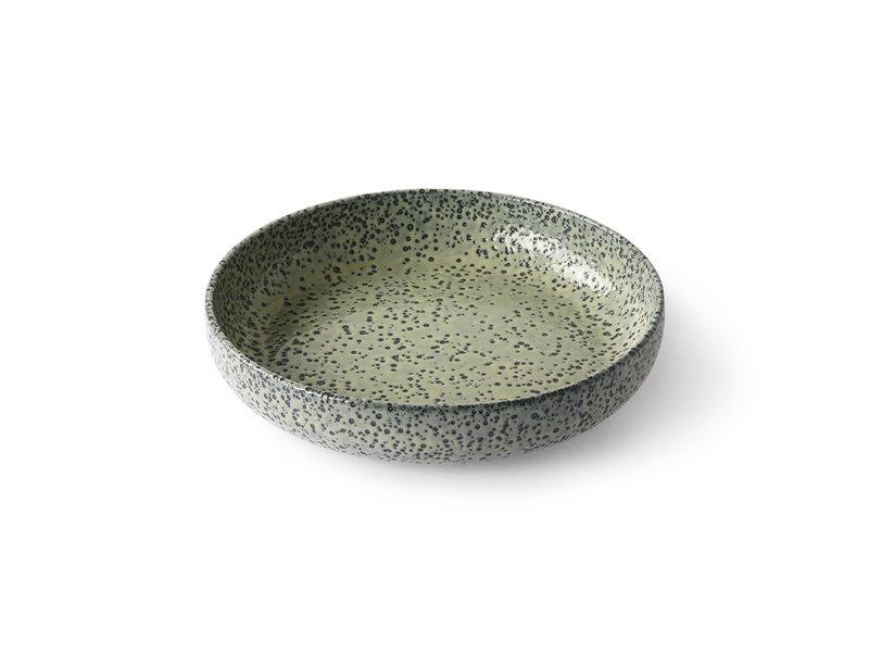 HK-Living Piatti profondi in ceramica sfumata verde - set di 2 pezzi