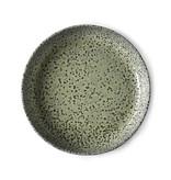 HK-Living Gradient Keramiske dybe plader grøn - sæt af 2 stk