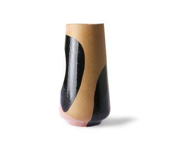HK-Living Handbemalte Keramikvase