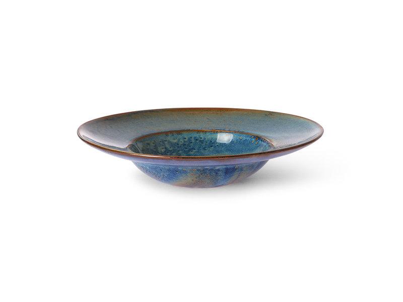 HK-Living Home chef ceramic pasta plate rustic blue