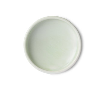 HK-Living Home chef ceramic plates mint green - set of 4 pieces