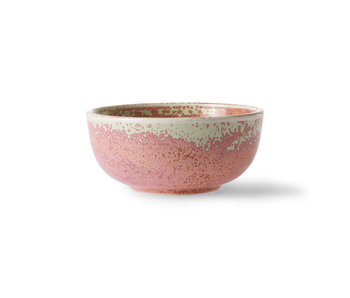HK-Living Home chef ceramic bowls rustic pink - set of 6 pieces