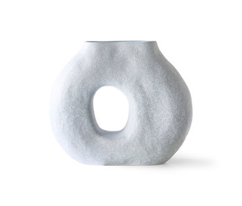 HK-Living Organic circle vase - ice blue