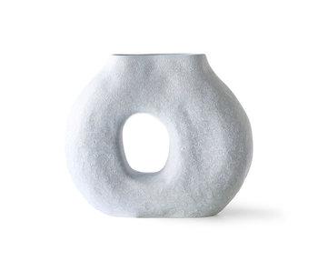 HK-Living Vase circulaire bio - bleu glacier