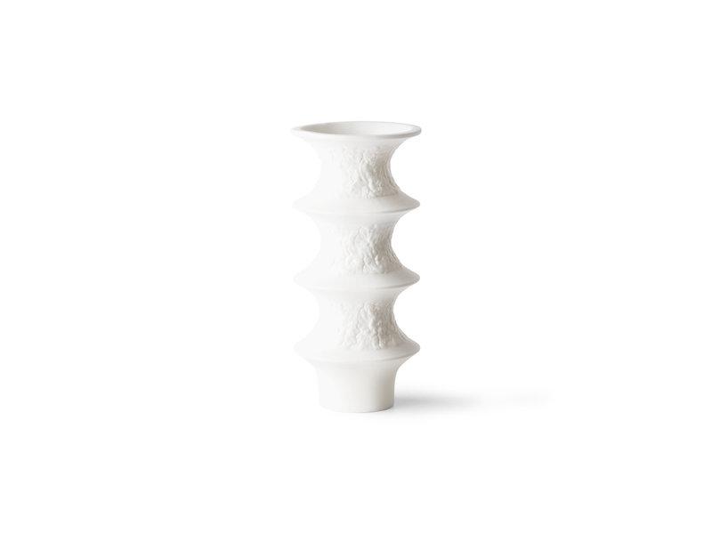 HK-Living Matte white porcelain vases - set of 4 pieces