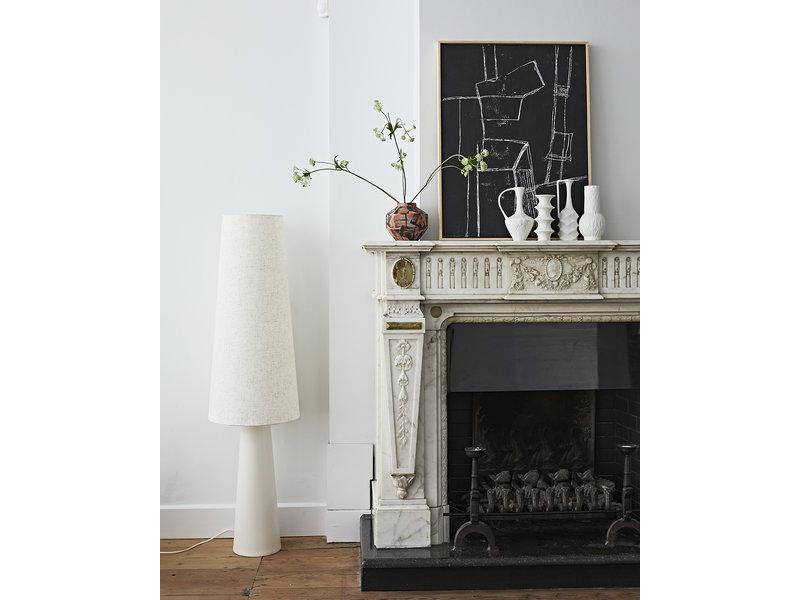 HK-Living Vasi in porcellana bianca opaca - set di 4 pezzi