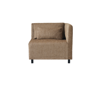 House Doctor Camphor sofa module corner element incl 2 cushions - camel