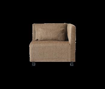 House Doctor Elemento de esquina de módulo de sofá de alcanfor con 2 cojines - camel
