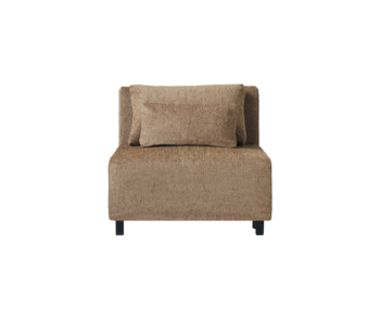House Doctor Módulo central de sofá de alcanfor con 2 cojines incluidos - camel