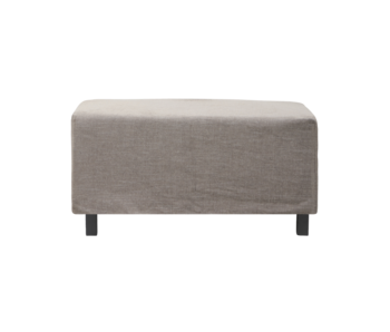 House Doctor Hazel night pouf - gray / brown