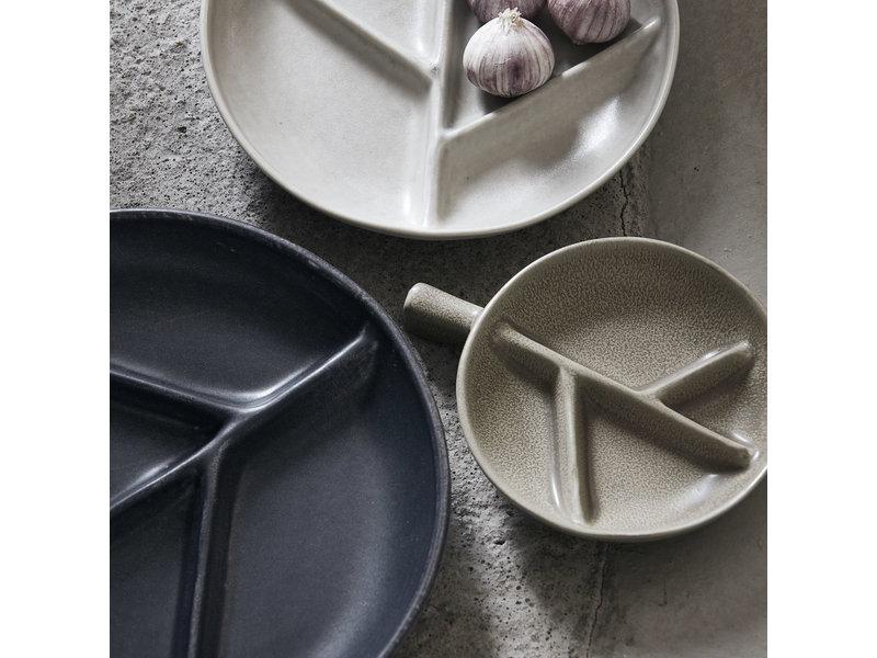 House Doctor Branch borden donkergrijs - set van 6 stuks