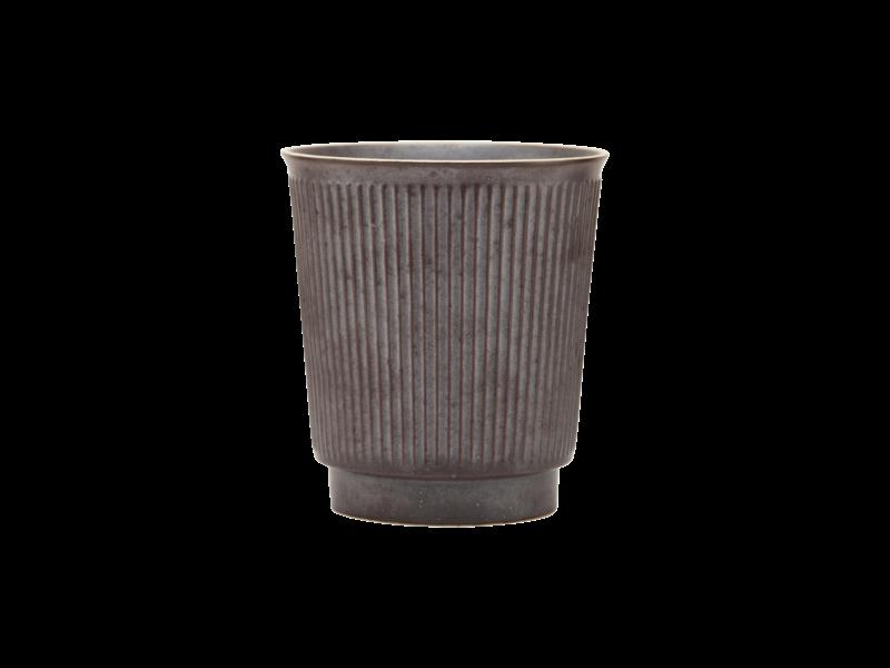 House Doctor Berica muggar brun - uppsättning av 12 stycken svart Ø8x9cm - uppsättning av 12 delar - kopia