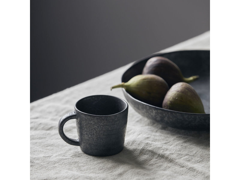 House Doctor Pion espresso kopjes zwart/bruin - set van 12 stuks