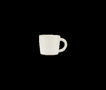 House Doctor Pion espresso kopjes wit/grijs - set van 12 stuks