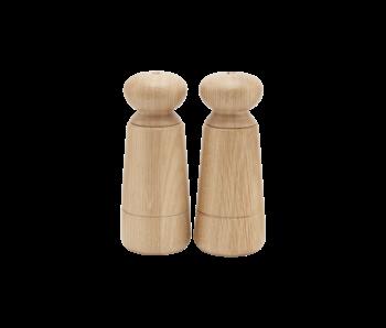 House Doctor Juego de sal y pimienta Wardha - madera de roble