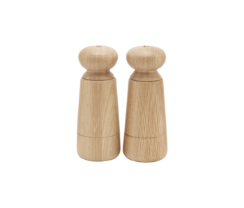 House Doctor Wardha salt and pepper set - oak wood