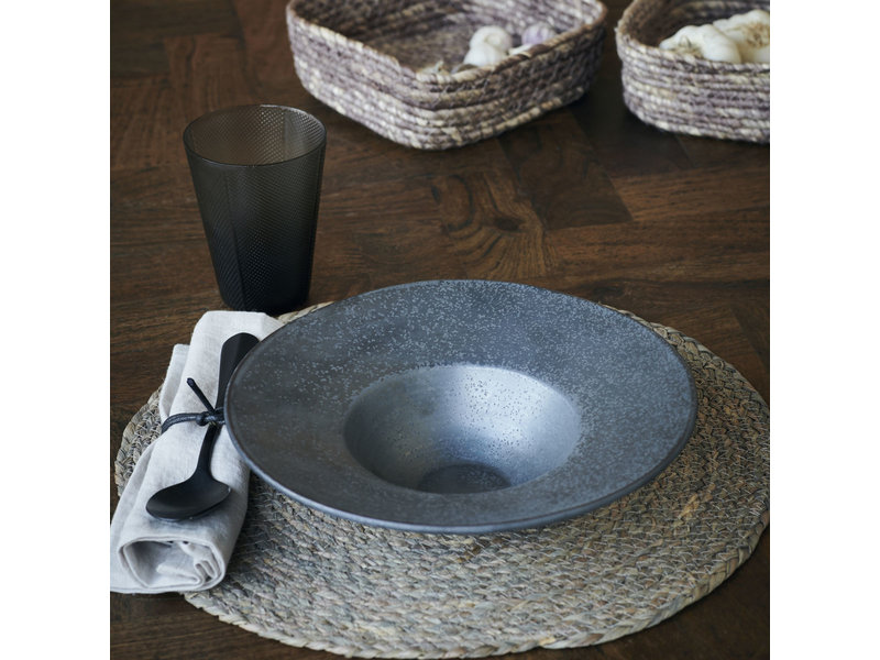 House Doctor Pion pasta plates black / brown - set of 6 pieces