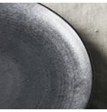 House Doctor Pion lunch borden zwart/bruin - set van 6 stuks