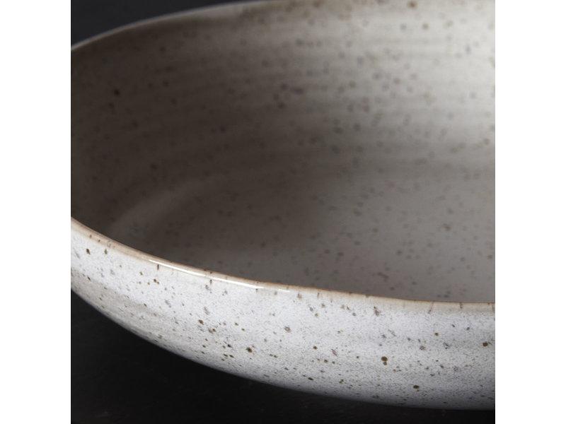 House Doctor Pion diepe borden grijs/wit - set van 6 stuks