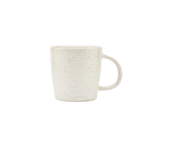 House Doctor Pawn mugs white / gray - set of 12 pieces