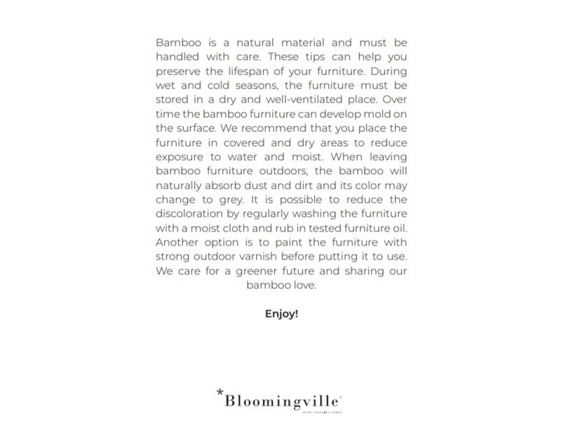 Bloomingville Sole tafel naturel - bamboe