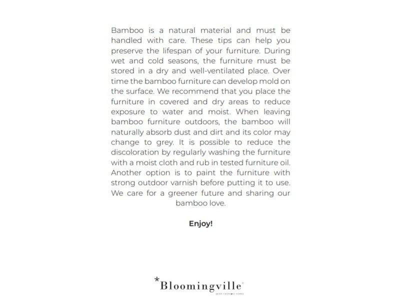 Bloomingville Sohlenliegestuhl aus natürlichem Bambus