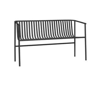 Hubsch Sofá de exterior de metal negro