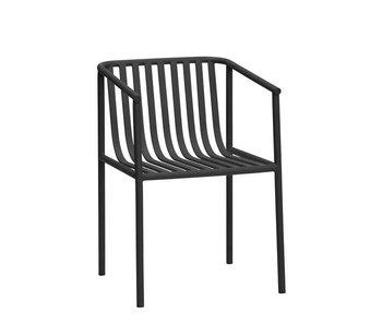 Hubsch Chaise d'extérieur en métal - noir