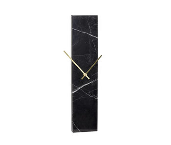 Hubsch Clock marble - black / brass