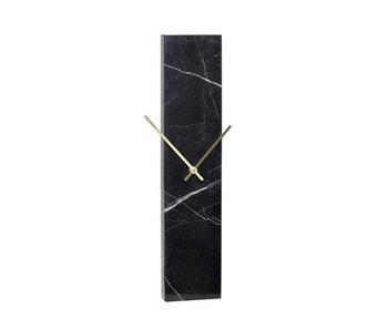 Hubsch Reloj de mármol - negro / latón