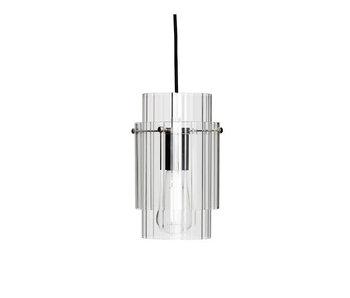 Hubsch Hængelampe glas / metal - nikkel