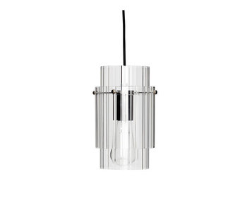Hubsch Hanging lamp glass / metal - nickel