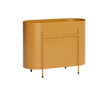 Hubsch Fioriera in metallo - arancione