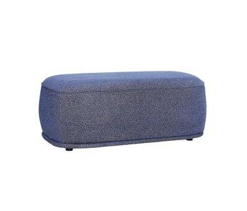 Hubsch Poef polyester- blauw