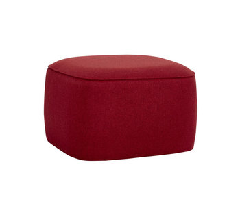 Hubsch Pouf polyester rouge