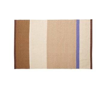 Hubsch Teppich Polyester - mehrfarbig