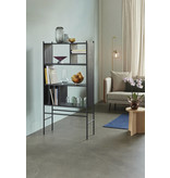Hubsch Rack with shelves wood / metal - black