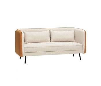 Hubsch Polyester / metal sofa - beige / orange