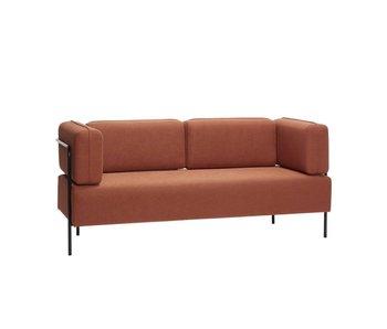 Hubsch Sofa i polyester / metall - brun / svart